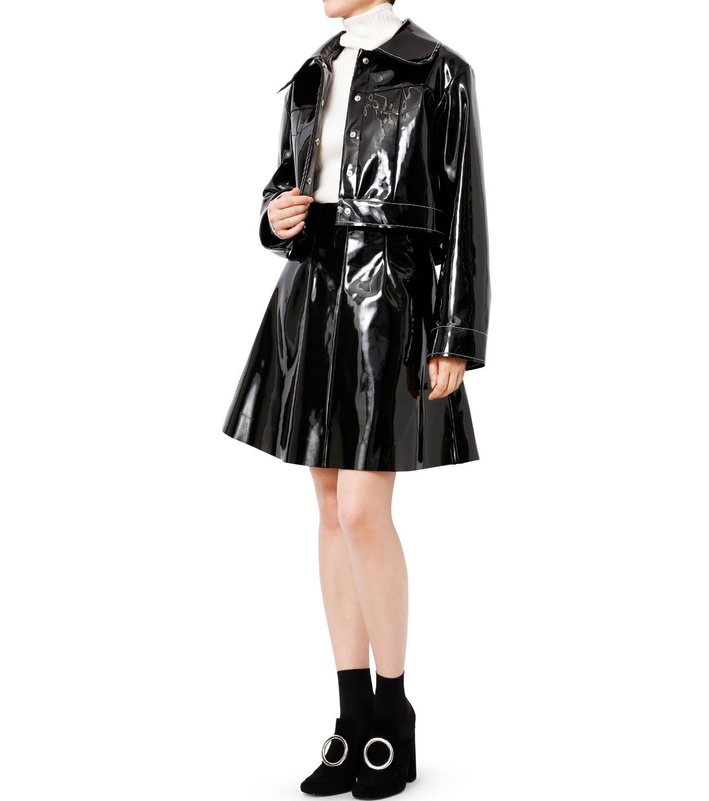 LE CIEL BLEU(ルシェルブルー)のフェイクエナメルビッグブルゾン-BLACK(ジャケット/jacket)-18A64407 拡大詳細画像3