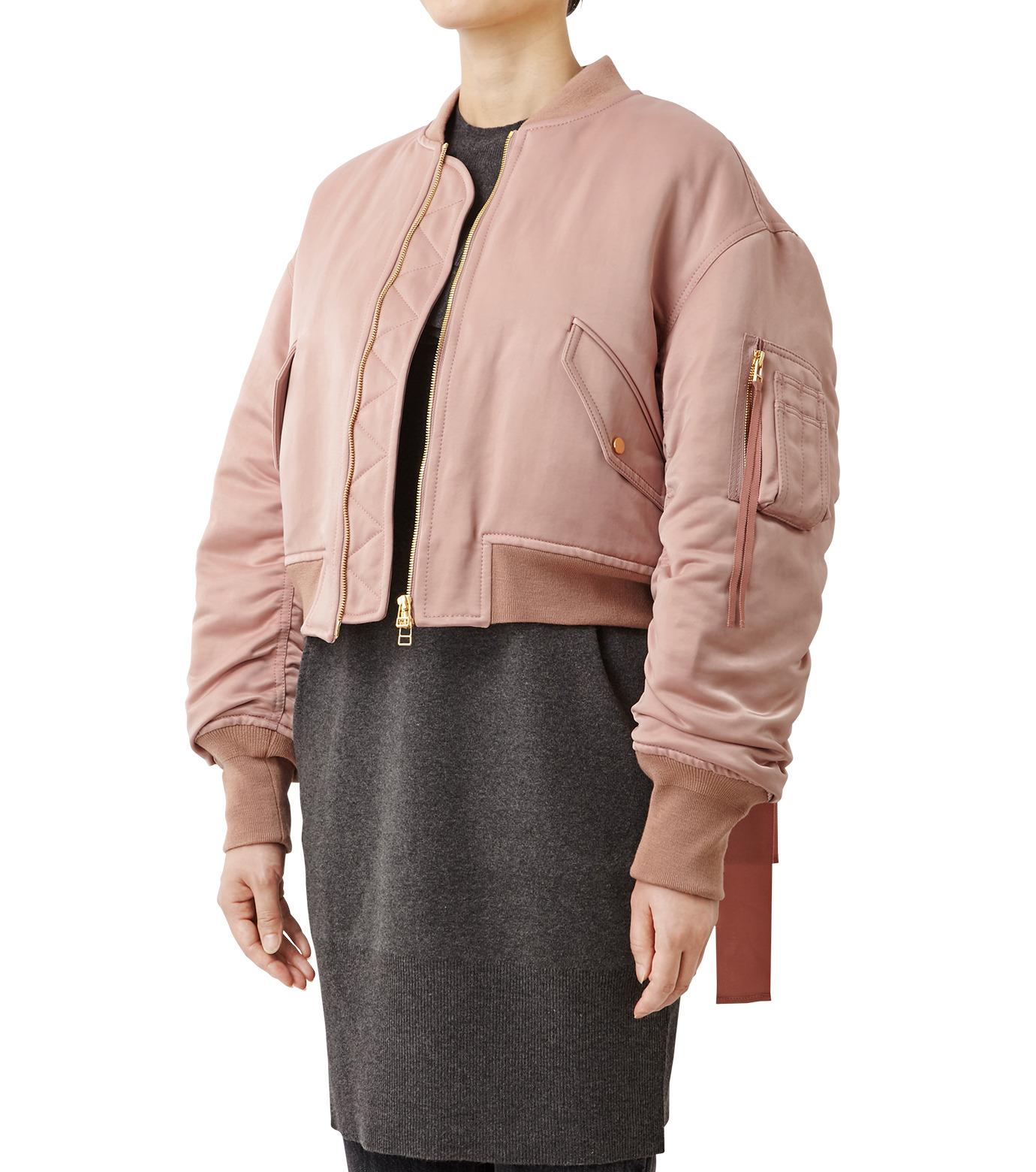 LE CIEL BLEU(ルシェルブルー)のリボンシェイクスMA-1-PINK(ジャケット/jacket)-18A64509 拡大詳細画像1