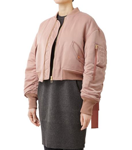 LE CIEL BLEU(ルシェルブルー)のリボンシェイクスMA-1-PINK(ジャケット/jacket)-18A64509 詳細画像1