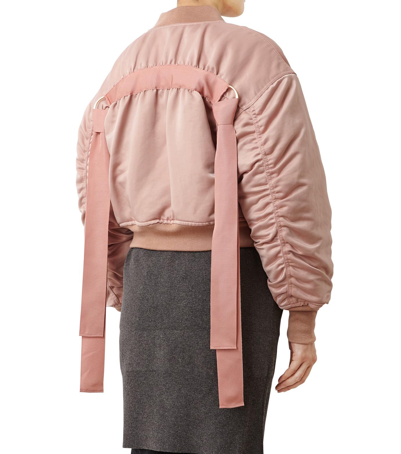 LE CIEL BLEU(ルシェルブルー)のリボンシェイクスMA-1-PINK(ジャケット/jacket)-18A64509 拡大詳細画像2