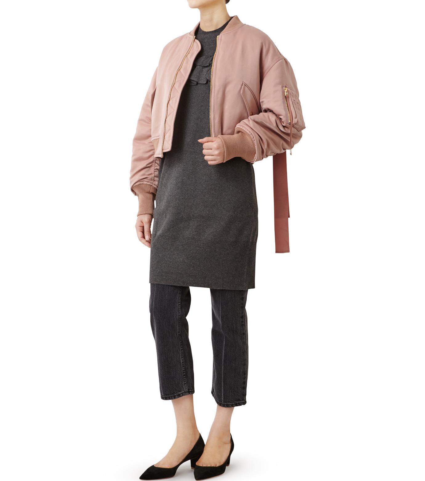 LE CIEL BLEU(ルシェルブルー)のリボンシェイクスMA-1-PINK(ジャケット/jacket)-18A64509 拡大詳細画像3