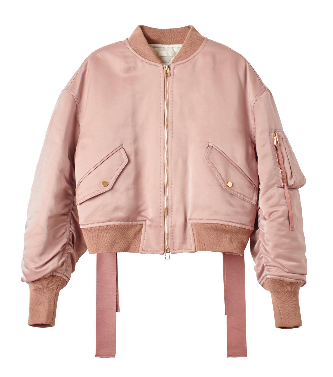LE CIEL BLEU(ルシェルブルー)のリボンシェイクスMA-1-PINK(ジャケット/jacket)-18A64509 拡大詳細画像4