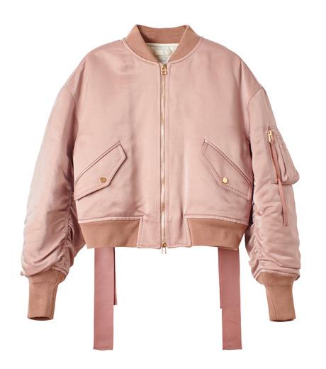 LE CIEL BLEU(ルシェルブルー)のリボンシェイクスMA-1-PINK(ジャケット/jacket)-18A64509 詳細画像4