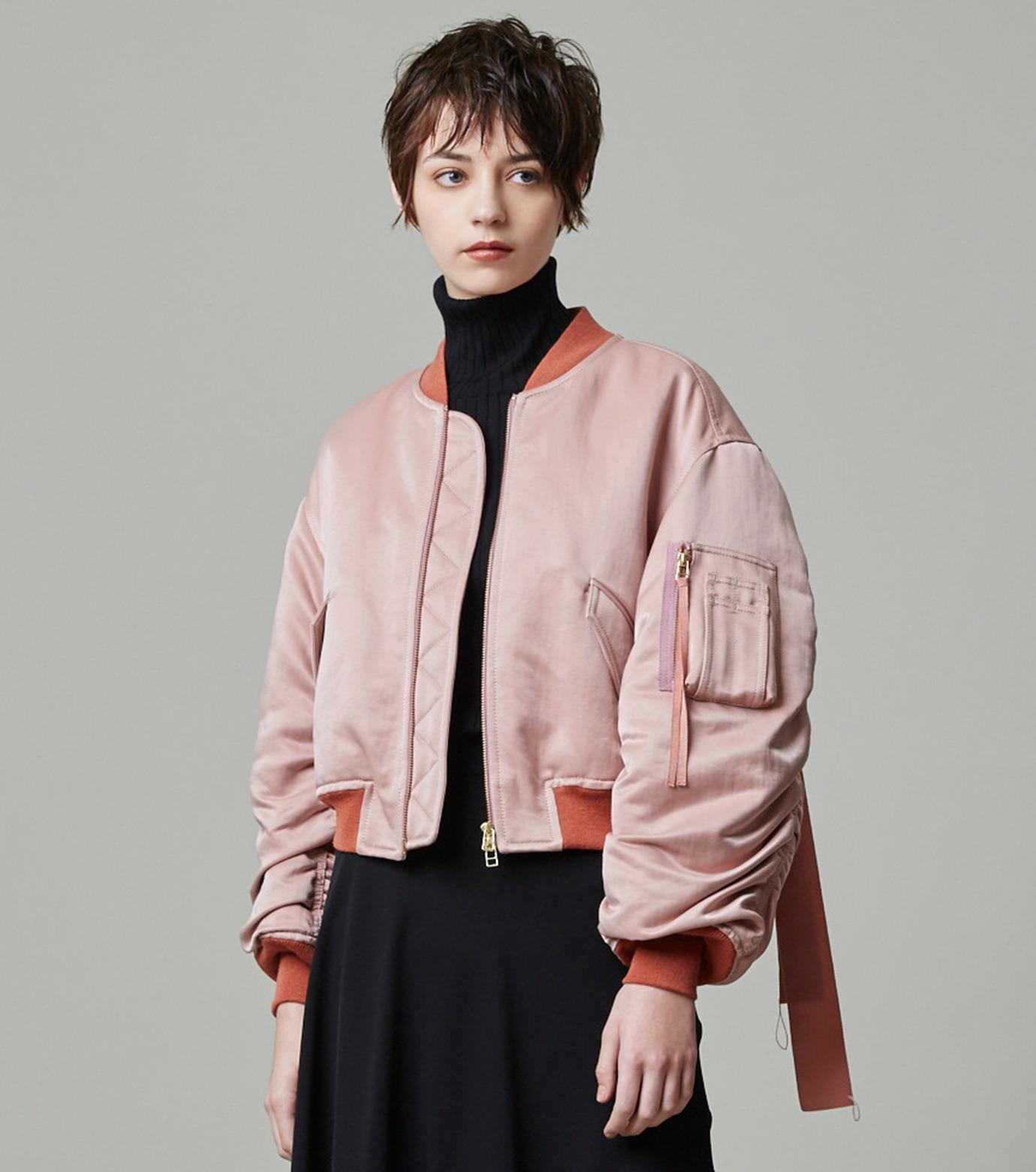 LE CIEL BLEU(ルシェルブルー)のリボンシェイクスMA-1-PINK(ジャケット/jacket)-18A64509 拡大詳細画像5