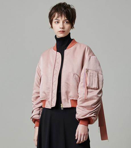 LE CIEL BLEU(ルシェルブルー)のリボンシェイクスMA-1-PINK(ジャケット/jacket)-18A64509 詳細画像5