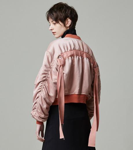 LE CIEL BLEU(ルシェルブルー)のリボンシェイクスMA-1-PINK(ジャケット/jacket)-18A64509 詳細画像6