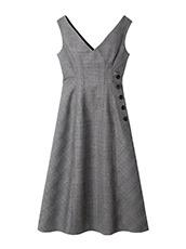 LE CIEL BLEU(ルシェルブルー) チェックドレス