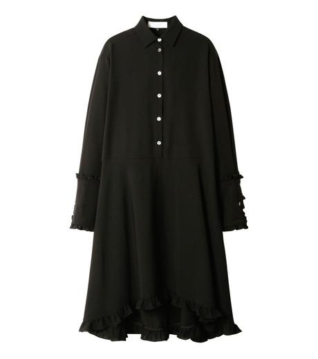 LE CIEL BLEU(ルシェルブルー)のアシンメトリーフリルシャツドレス-BLACK(ワンピース/one piece)-18A65617 詳細画像4