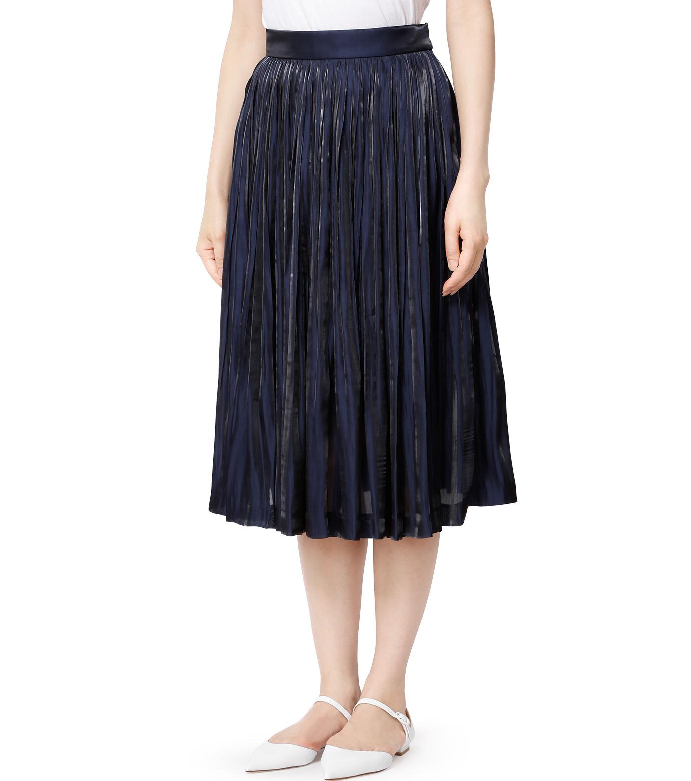 LE CIEL BLEU(ルシェルブルー)のプリーツスカート-NAVY(スカート/skirt)-18A67206 拡大詳細画像1