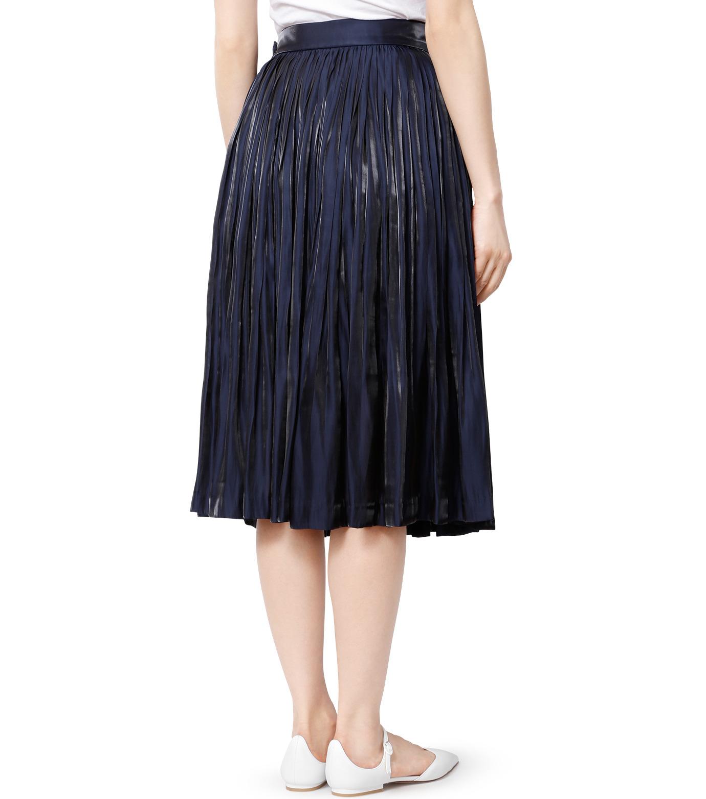 LE CIEL BLEU(ルシェルブルー)のプリーツスカート-NAVY(スカート/skirt)-18A67206 拡大詳細画像2