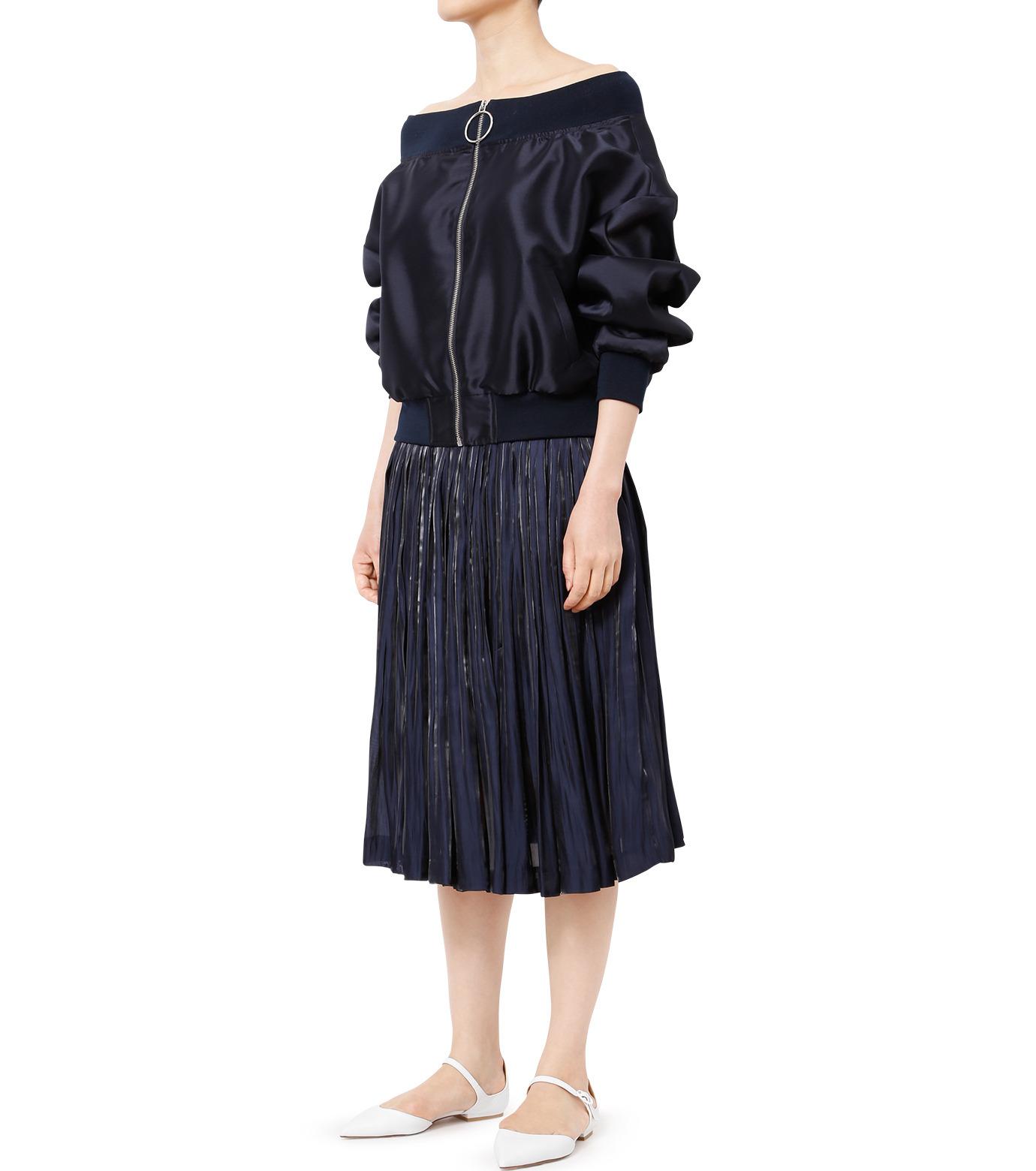 LE CIEL BLEU(ルシェルブルー)のプリーツスカート-NAVY(スカート/skirt)-18A67206 拡大詳細画像3