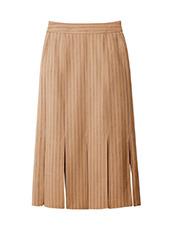 LE CIEL BLEU ピンストライプスウィングスカート