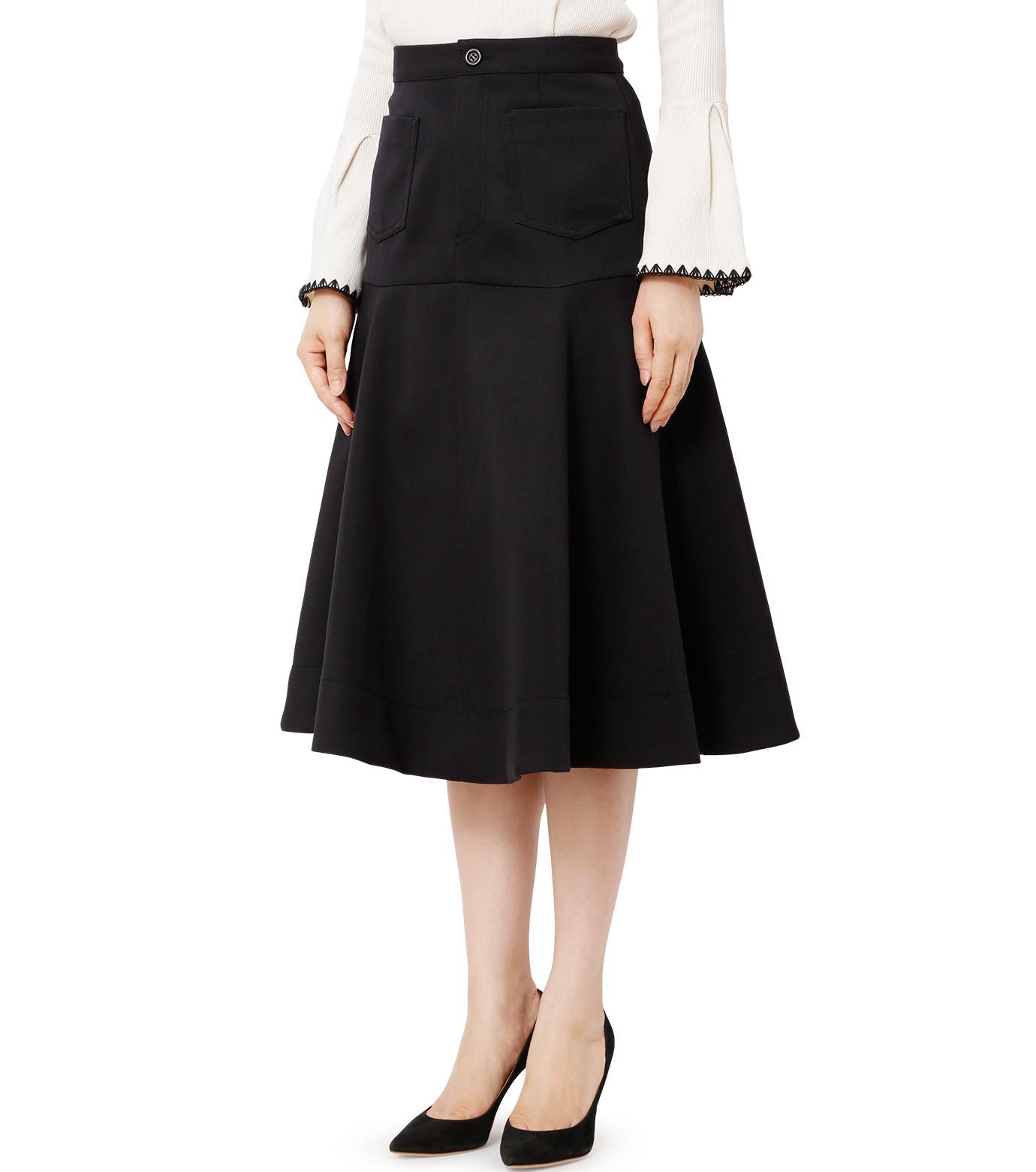 LE CIEL BLEU(ルシェルブルー)のWクローズフレアスカート-BLACK(スカート/skirt)-18A67310 拡大詳細画像1