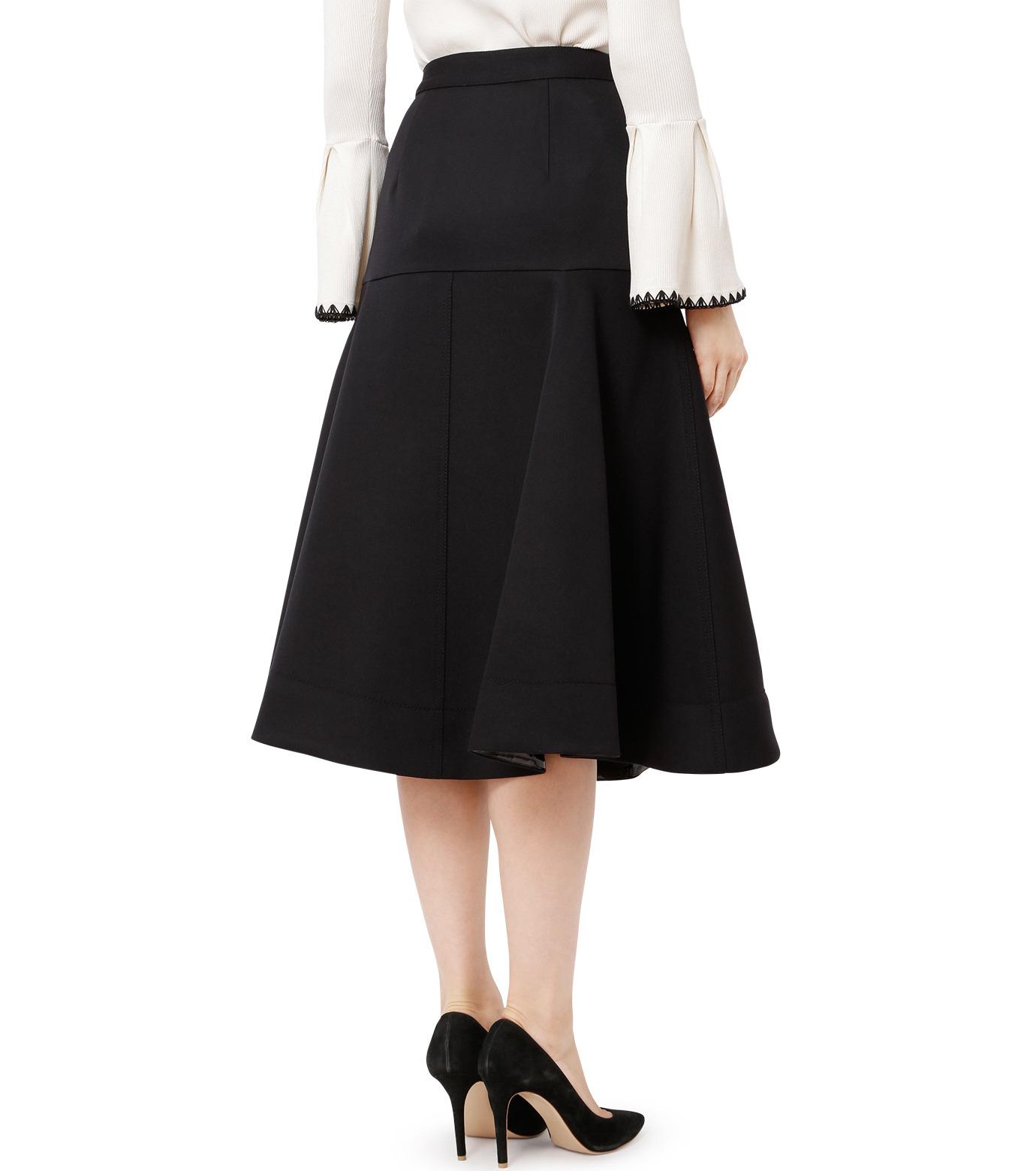 LE CIEL BLEU(ルシェルブルー)のWクローズフレアスカート-BLACK(スカート/skirt)-18A67310 拡大詳細画像2