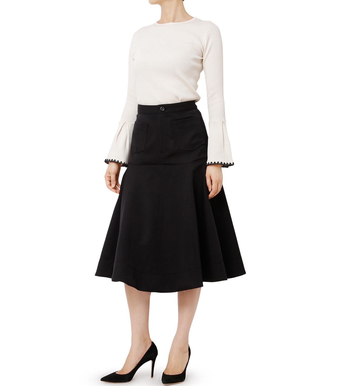 LE CIEL BLEU(ルシェルブルー)のWクローズフレアスカート-BLACK(スカート/skirt)-18A67310 拡大詳細画像3