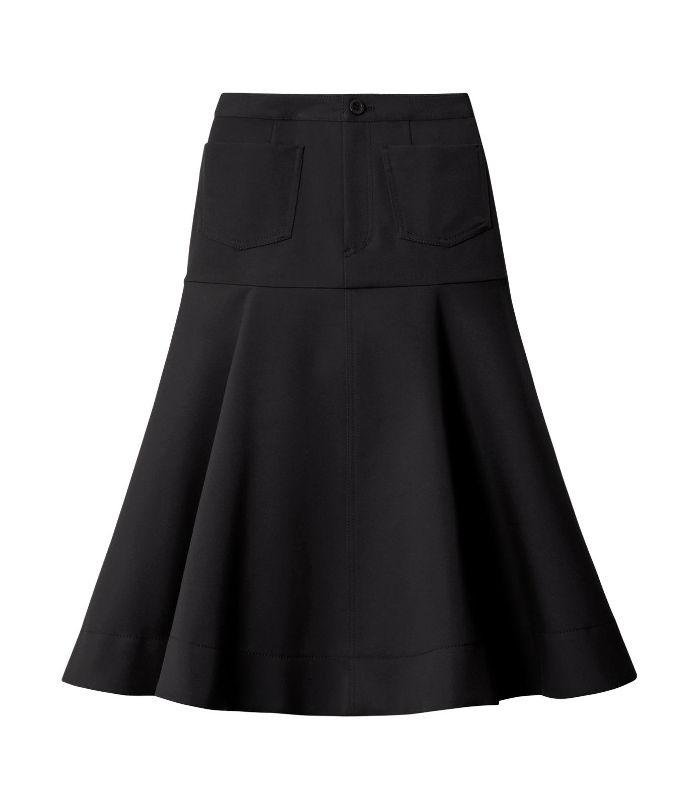 LE CIEL BLEU(ルシェルブルー)のWクローズフレアスカート-BLACK(スカート/skirt)-18A67310 拡大詳細画像4
