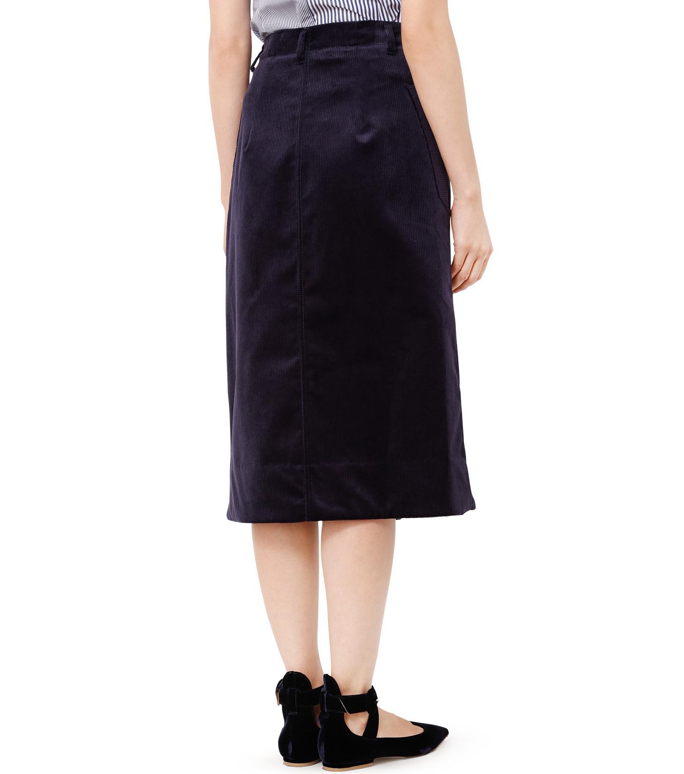 LE CIEL BLEU(ルシェルブルー)のコーデュロイロングスカート-NAVY(スカート/skirt)-18A67311 拡大詳細画像2