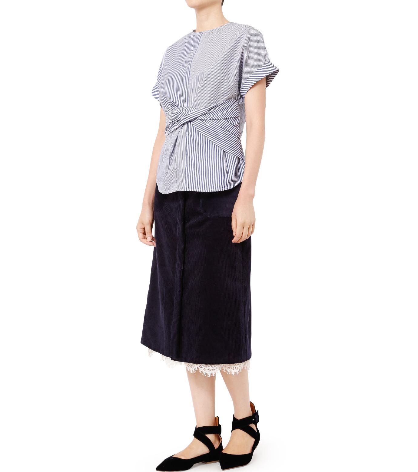 LE CIEL BLEU(ルシェルブルー)のコーデュロイロングスカート-NAVY(スカート/skirt)-18A67311 拡大詳細画像3