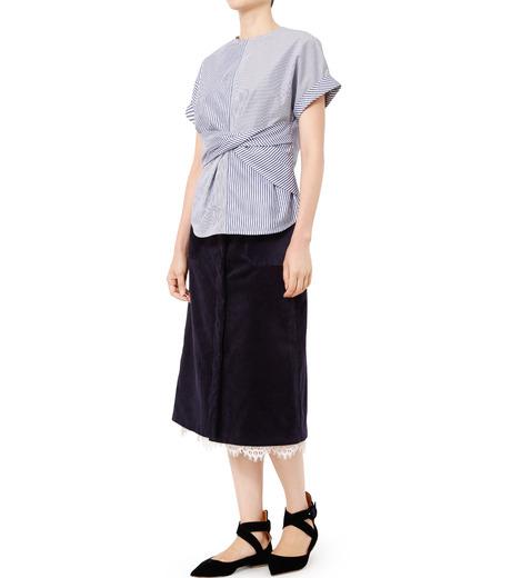 LE CIEL BLEU(ルシェルブルー)のコーデュロイロングスカート-NAVY(スカート/skirt)-18A67311 詳細画像3