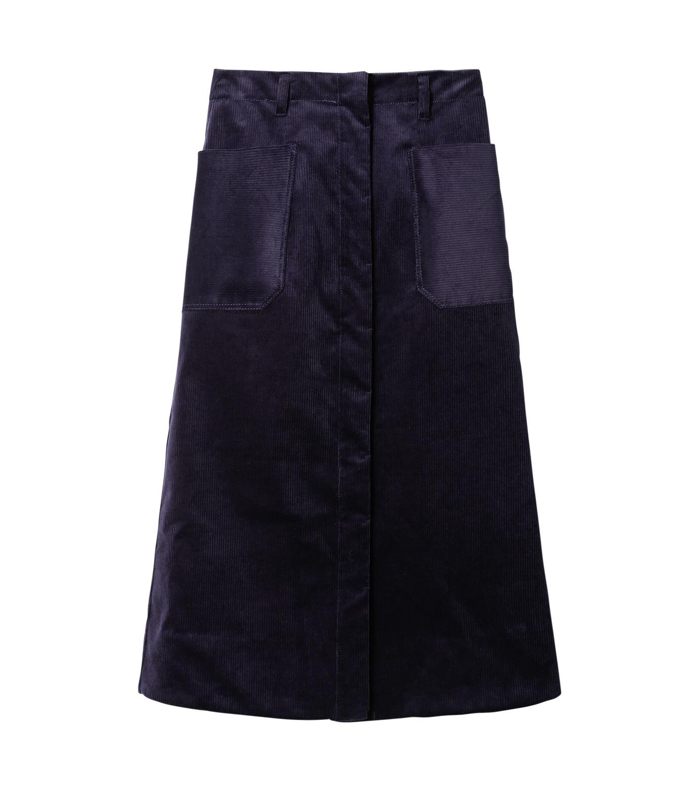 LE CIEL BLEU(ルシェルブルー)のコーデュロイロングスカート-NAVY(スカート/skirt)-18A67311 拡大詳細画像4
