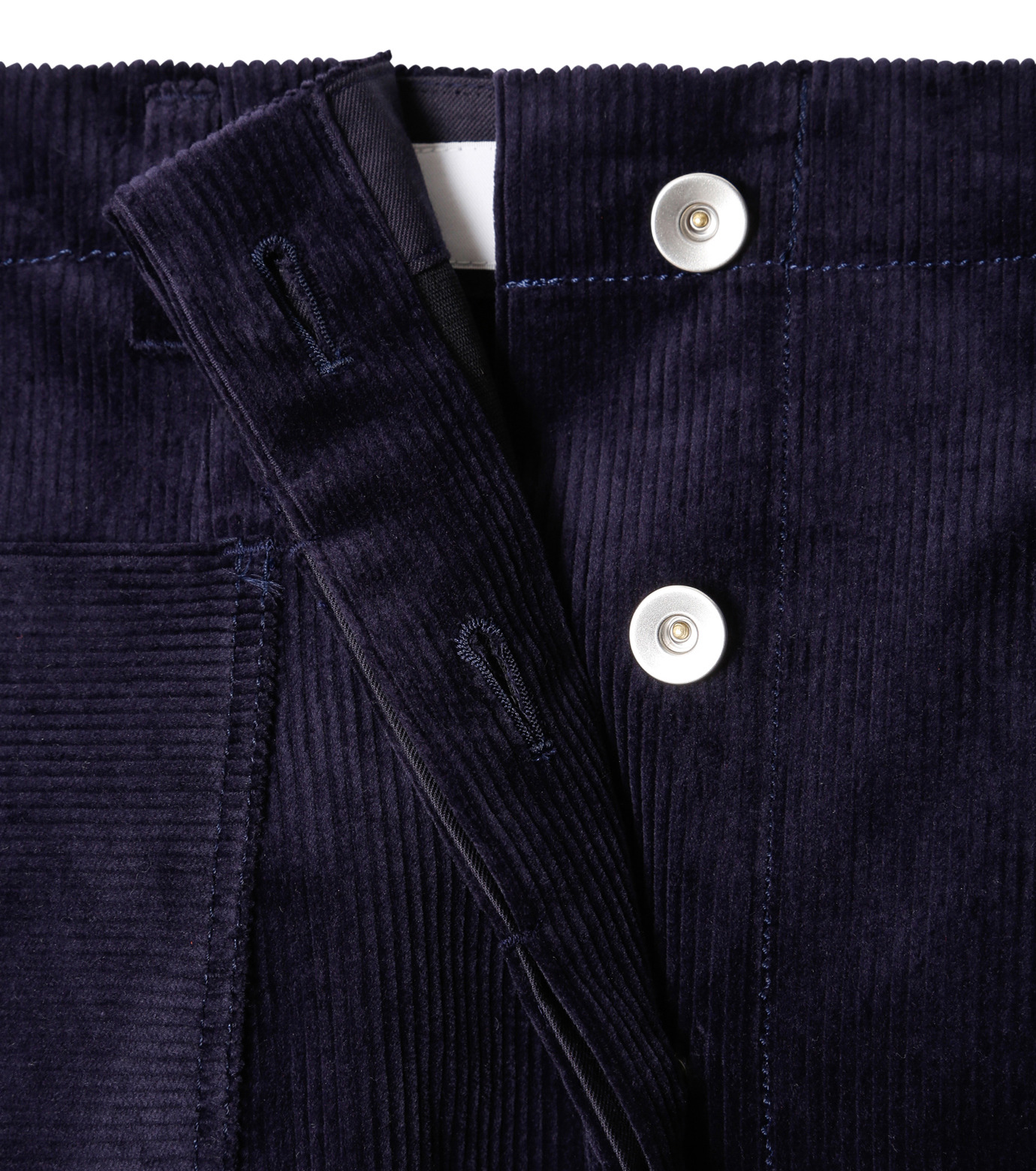 LE CIEL BLEU(ルシェルブルー)のコーデュロイロングスカート-NAVY(スカート/skirt)-18A67311 拡大詳細画像5