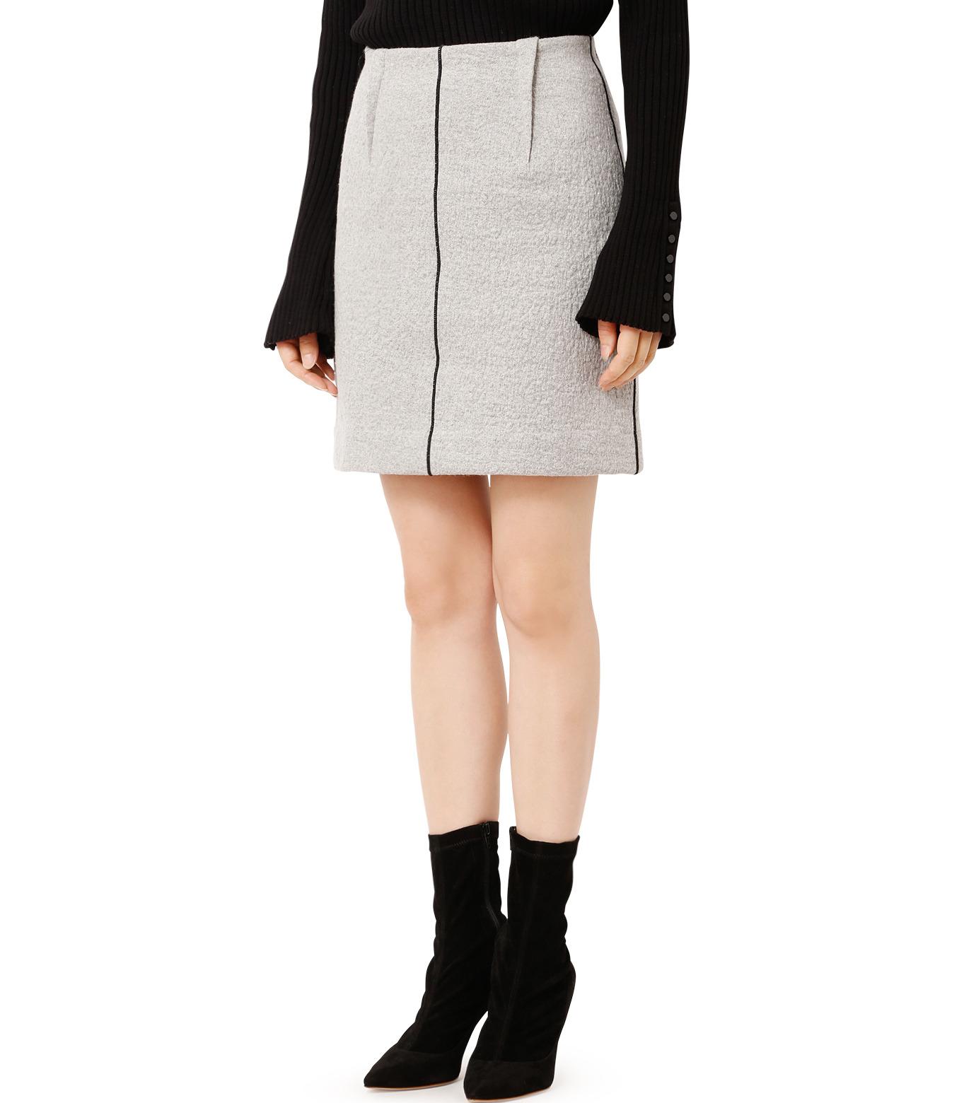 LE CIEL BLEU(ルシェルブルー)のウールフリースパイルミディスカート-GRAY(スカート/skirt)-18A67312 拡大詳細画像1