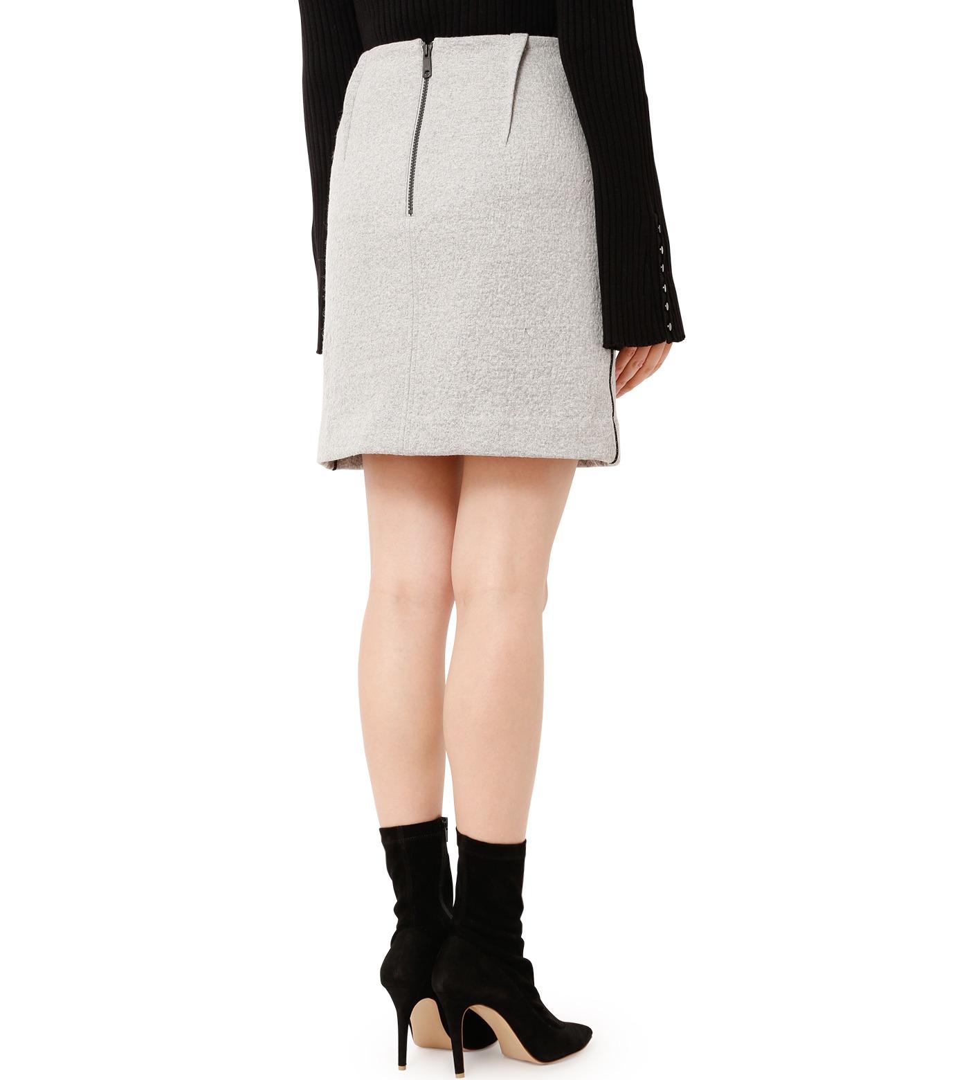 LE CIEL BLEU(ルシェルブルー)のウールフリースパイルミディスカート-GRAY(スカート/skirt)-18A67312 拡大詳細画像2
