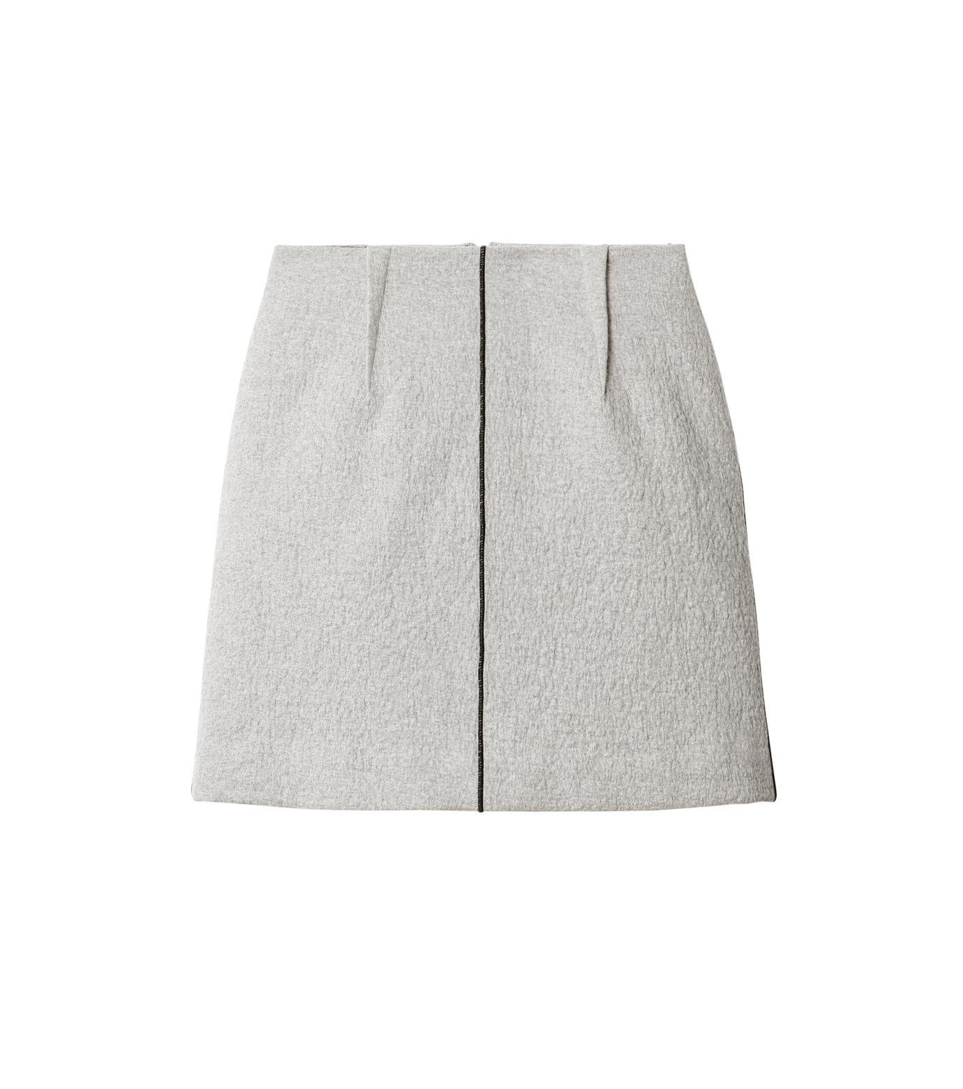 LE CIEL BLEU(ルシェルブルー)のウールフリースパイルミディスカート-GRAY(スカート/skirt)-18A67312 拡大詳細画像4
