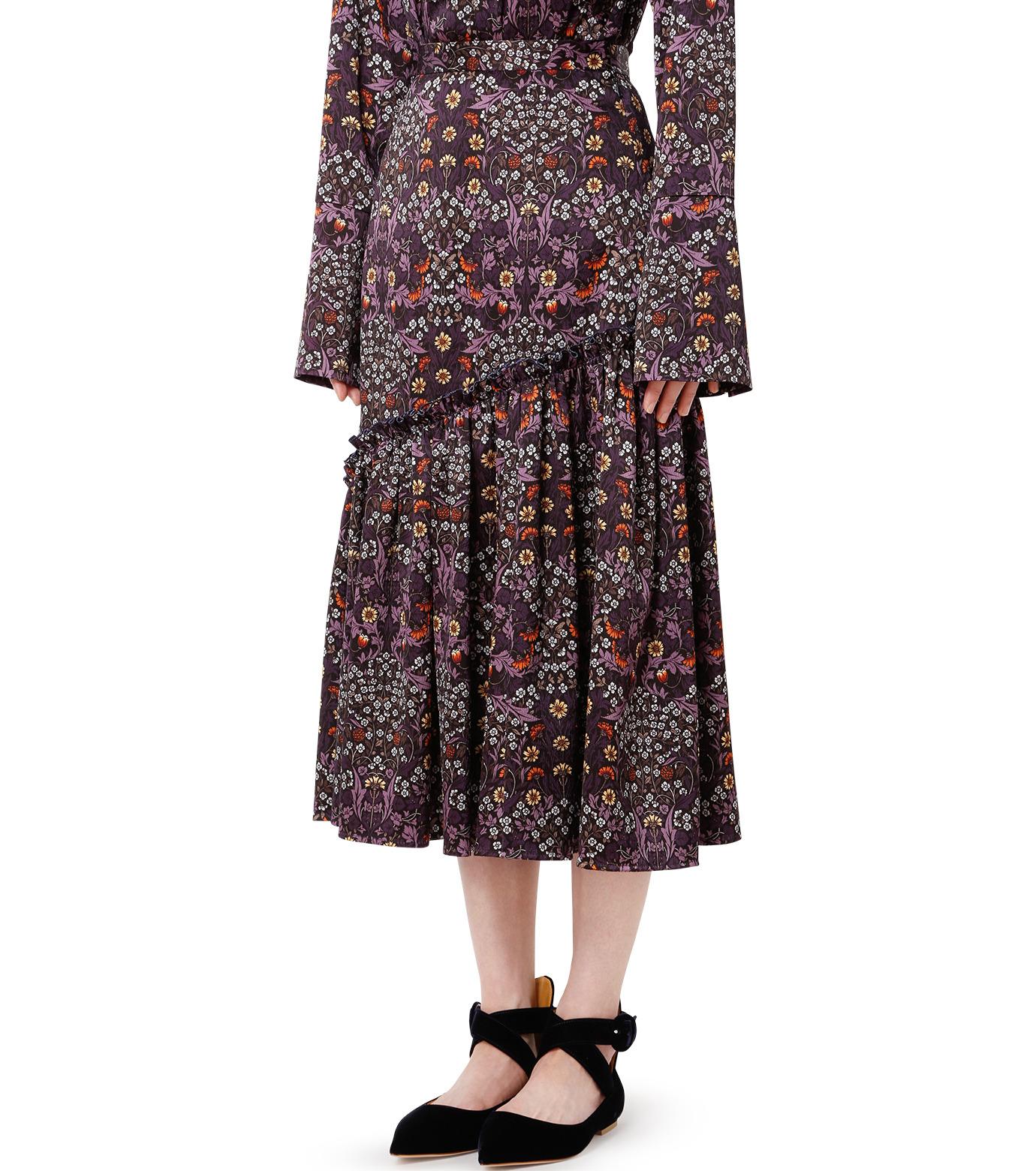 LE CIEL BLEU(ルシェルブルー)のダークフラワープリントスカート-MULTI COLOUR(スカート/skirt)-18A67314 拡大詳細画像1