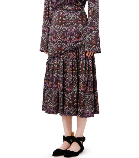 LE CIEL BLEU(ルシェルブルー)のダークフラワープリントスカート-MULTI COLOUR(スカート/skirt)-18A67314 詳細画像1