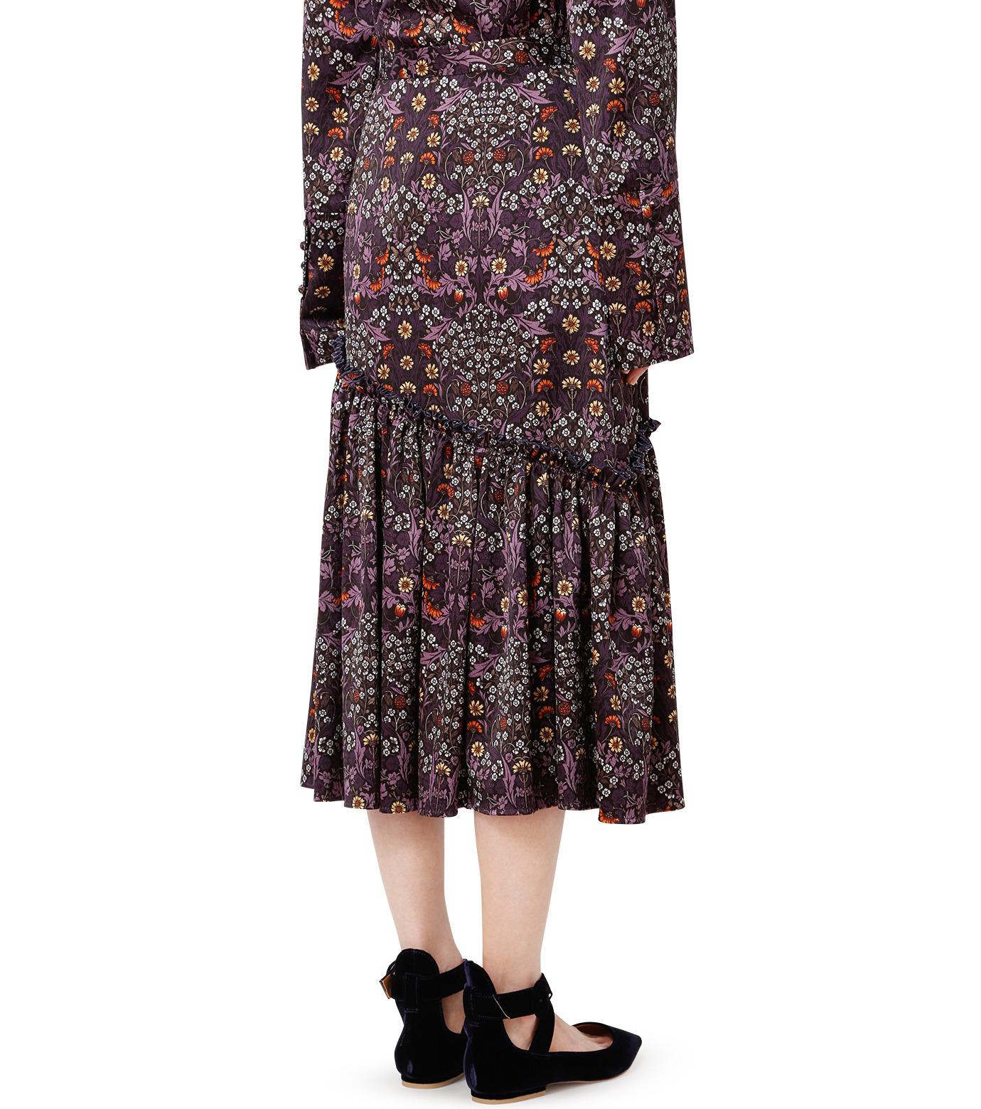 LE CIEL BLEU(ルシェルブルー)のダークフラワープリントスカート-MULTI COLOUR(スカート/skirt)-18A67314 拡大詳細画像2