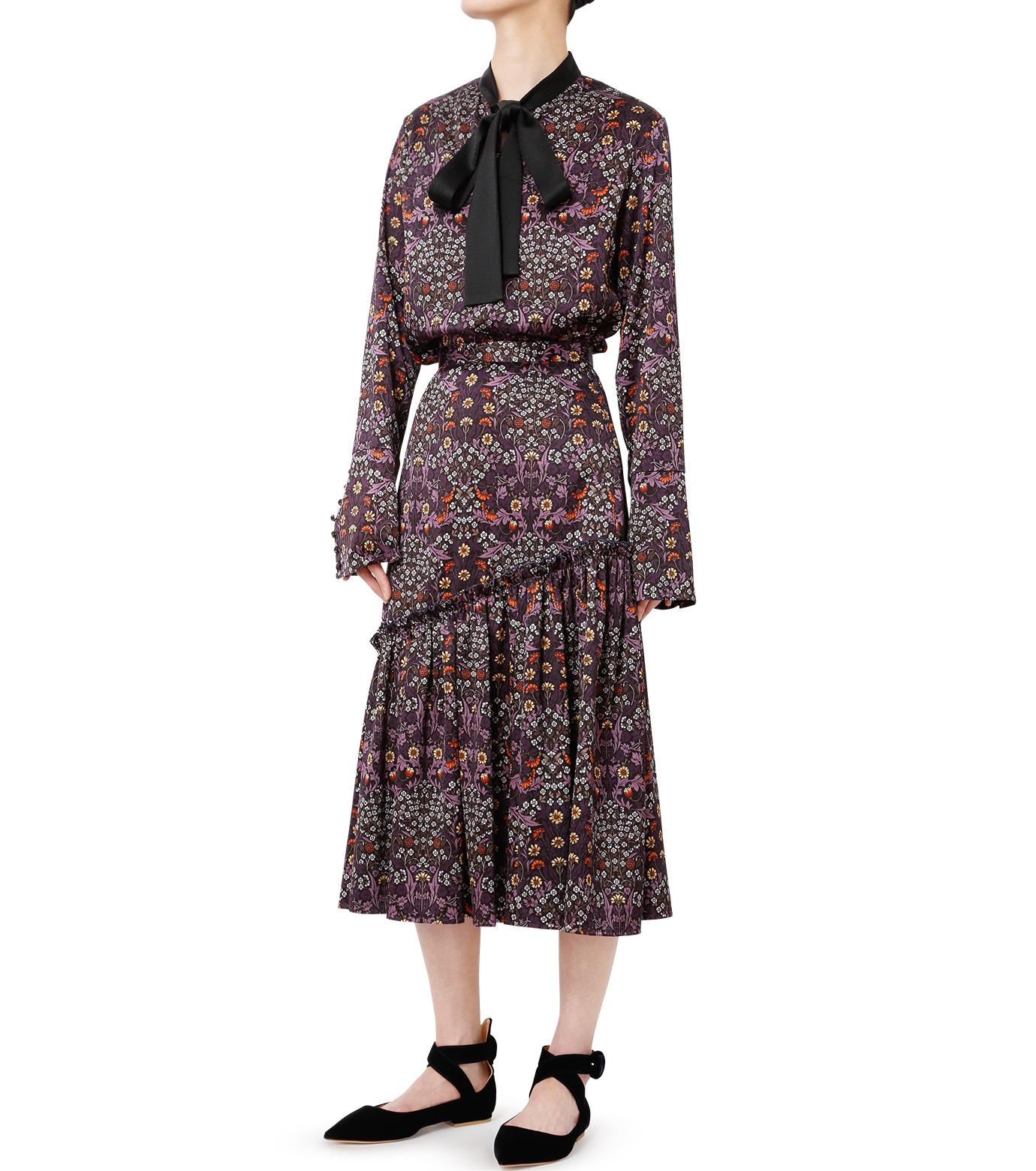 LE CIEL BLEU(ルシェルブルー)のダークフラワープリントスカート-MULTI COLOUR(スカート/skirt)-18A67314 拡大詳細画像3