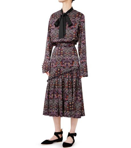 LE CIEL BLEU(ルシェルブルー)のダークフラワープリントスカート-MULTI COLOUR(スカート/skirt)-18A67314 詳細画像3