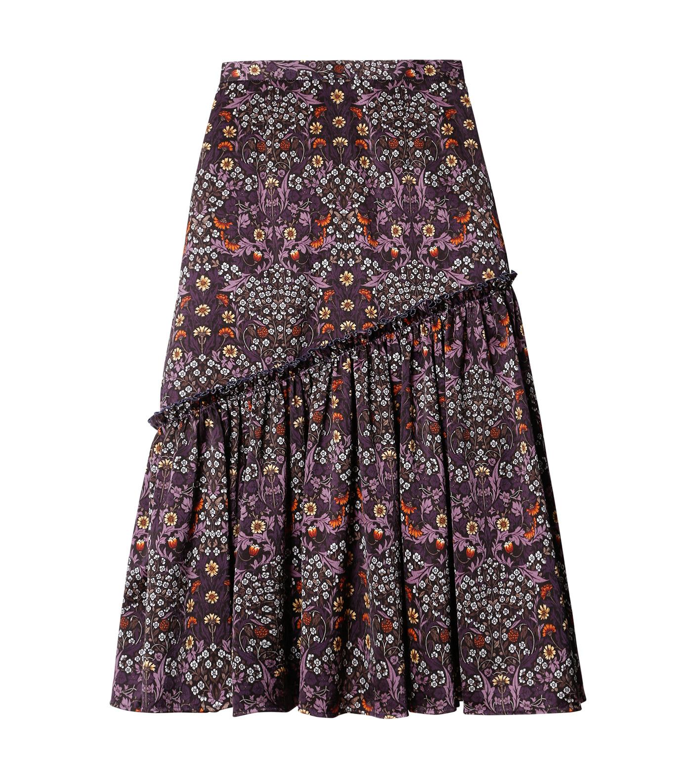 LE CIEL BLEU(ルシェルブルー)のダークフラワープリントスカート-MULTI COLOUR(スカート/skirt)-18A67314 拡大詳細画像4