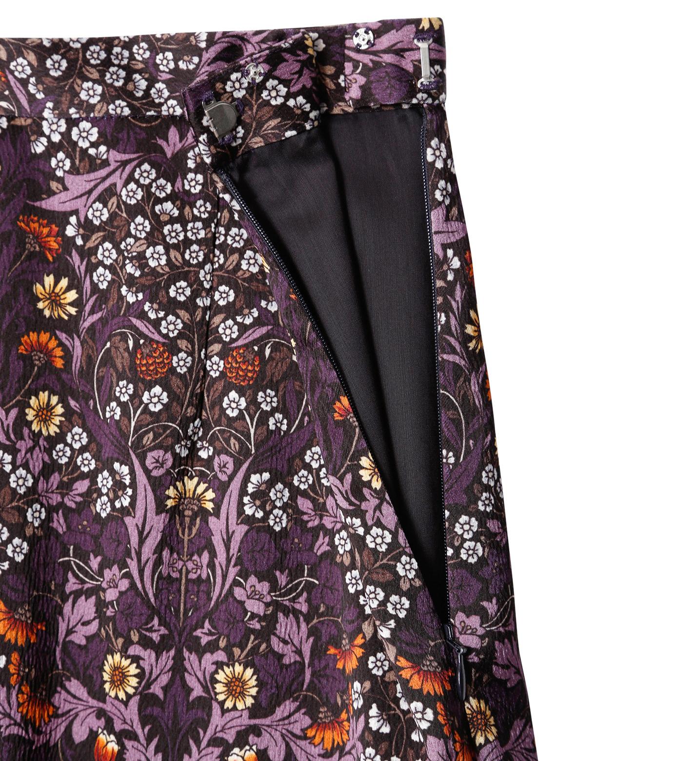 LE CIEL BLEU(ルシェルブルー)のダークフラワープリントスカート-MULTI COLOUR(スカート/skirt)-18A67314 拡大詳細画像5