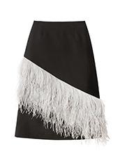 LE CIEL BLEU(ルシェルブルー) フェザータイトミディスカート