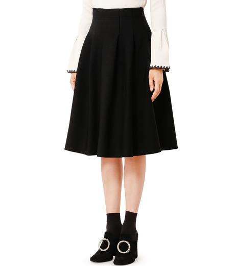 LE CIEL BLEU(ルシェルブルー)のタックニットスカート-BLACK(スカート/skirt)-18A67418 詳細画像1