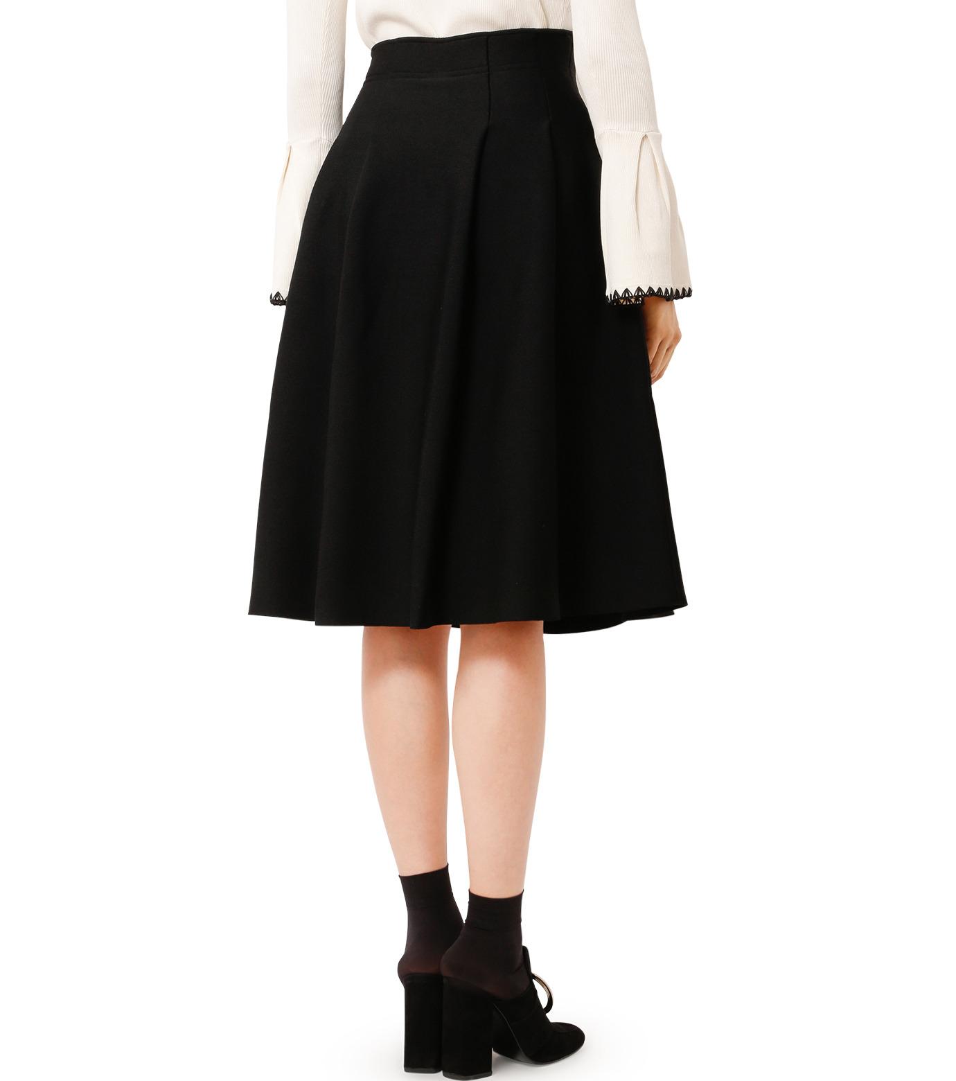 LE CIEL BLEU(ルシェルブルー)のタックニットスカート-BLACK(スカート/skirt)-18A67418 拡大詳細画像2