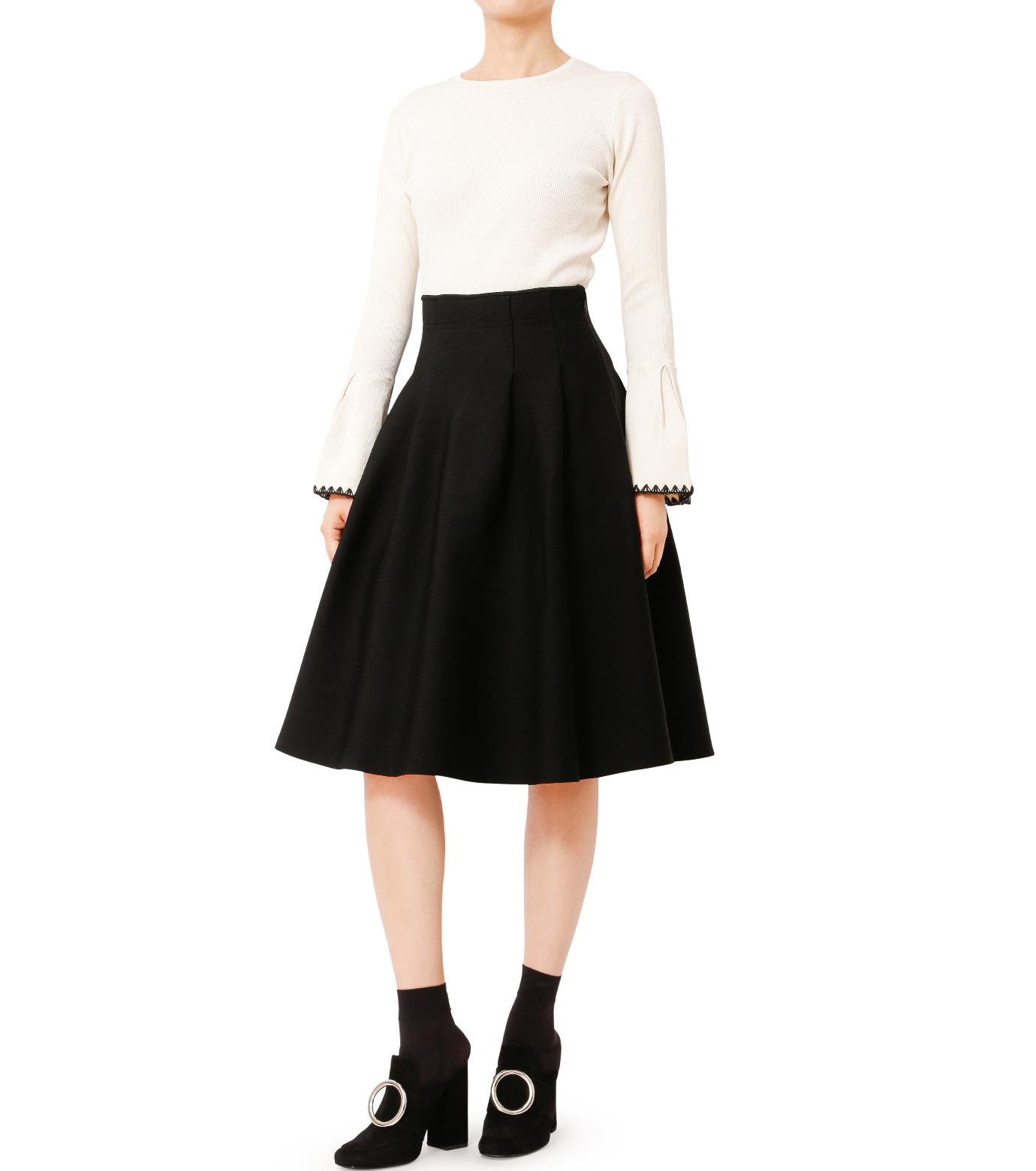 LE CIEL BLEU(ルシェルブルー)のタックニットスカート-BLACK(スカート/skirt)-18A67418 拡大詳細画像3