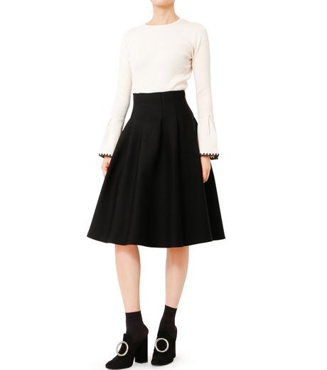 LE CIEL BLEU(ルシェルブルー)のタックニットスカート-BLACK(スカート/skirt)-18A67418 詳細画像3