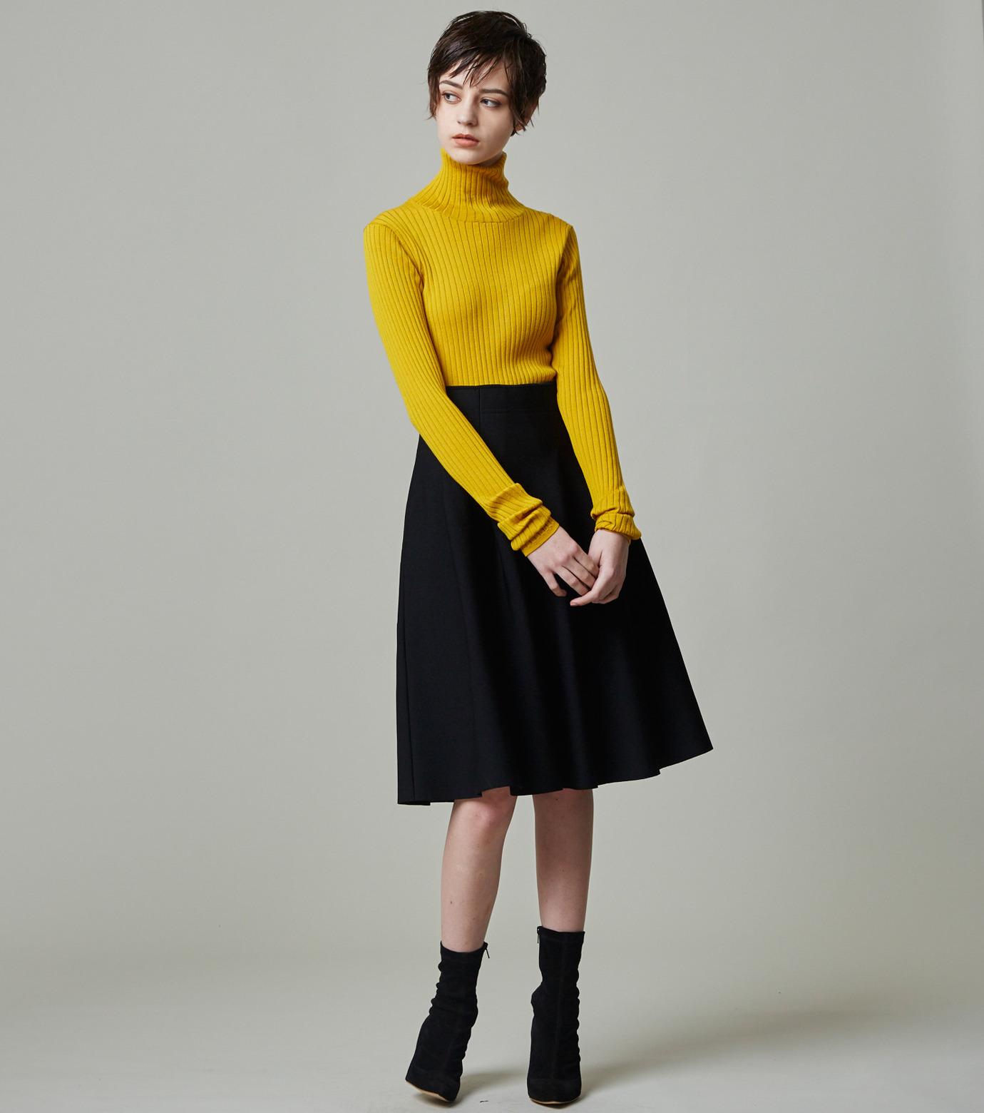 LE CIEL BLEU(ルシェルブルー)のタックニットスカート-BLACK(スカート/skirt)-18A67418 拡大詳細画像4