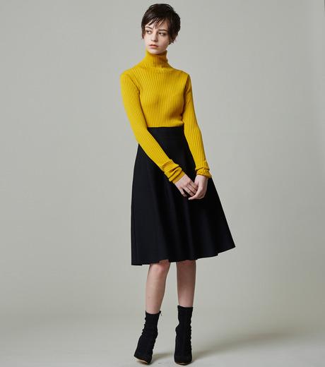 LE CIEL BLEU(ルシェルブルー)のタックニットスカート-BLACK(スカート/skirt)-18A67418 詳細画像4