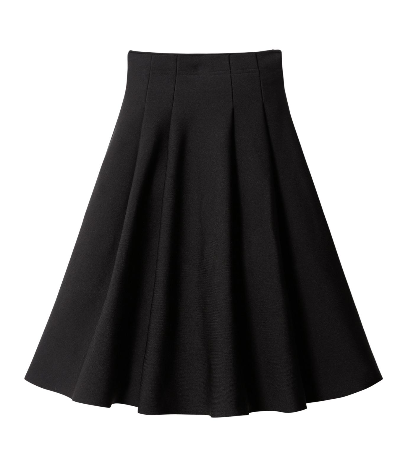 LE CIEL BLEU(ルシェルブルー)のタックニットスカート-BLACK(スカート/skirt)-18A67418 拡大詳細画像5