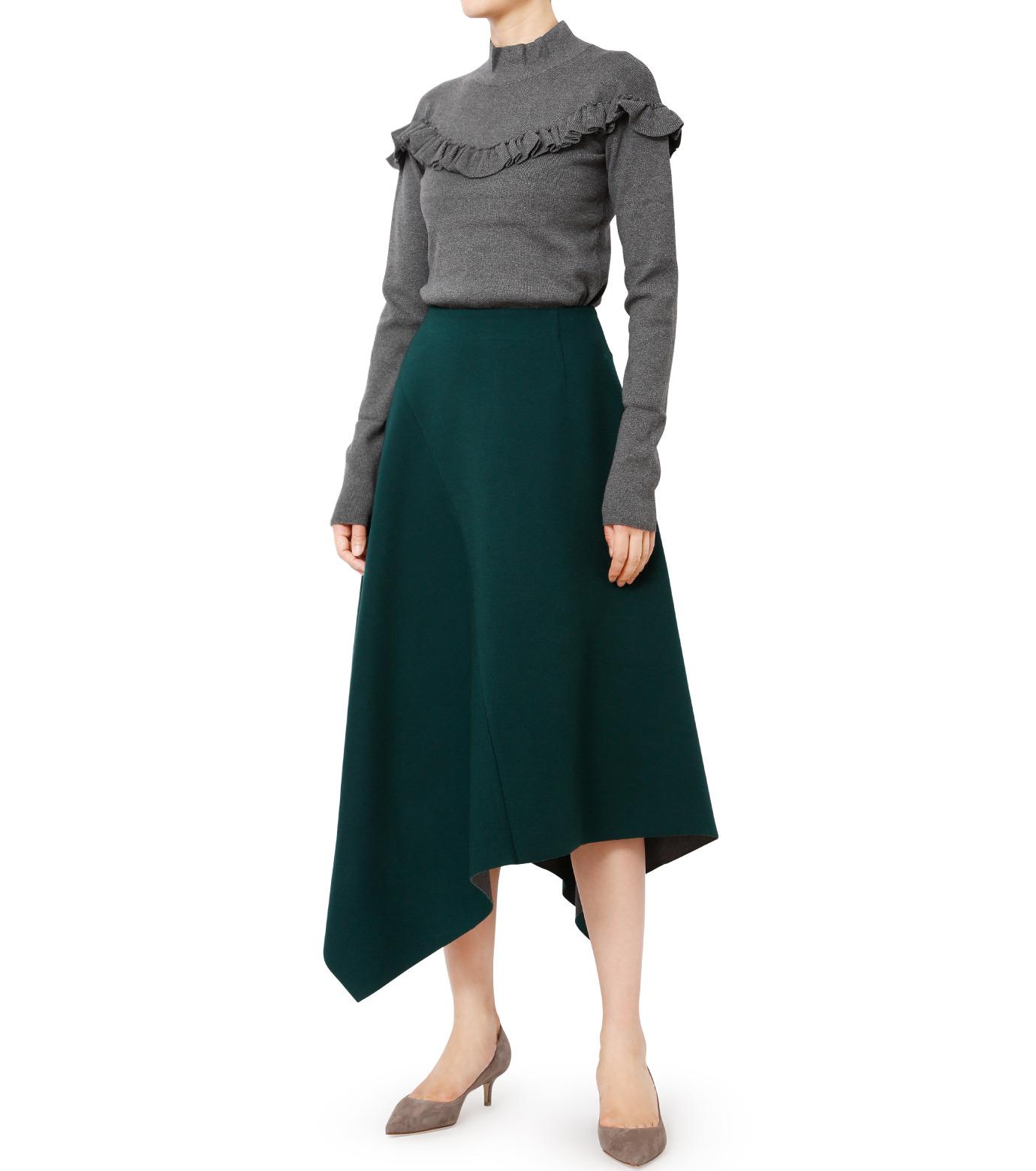 LE CIEL BLEU(ルシェルブルー)のアシンメトリーヘムスカート-GREEN(スカート/skirt)-18A67421 拡大詳細画像3