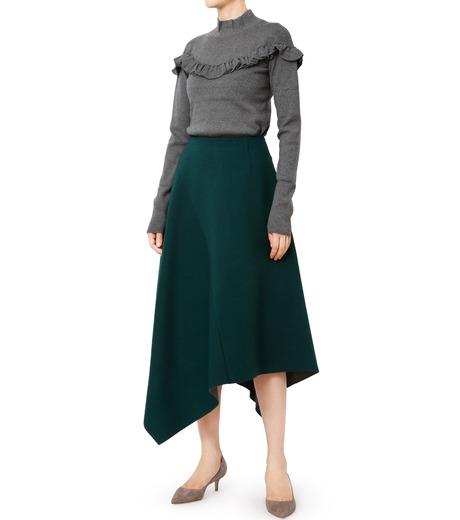 LE CIEL BLEU(ルシェルブルー)のアシンメトリーヘムスカート-GREEN(スカート/skirt)-18A67421 詳細画像3