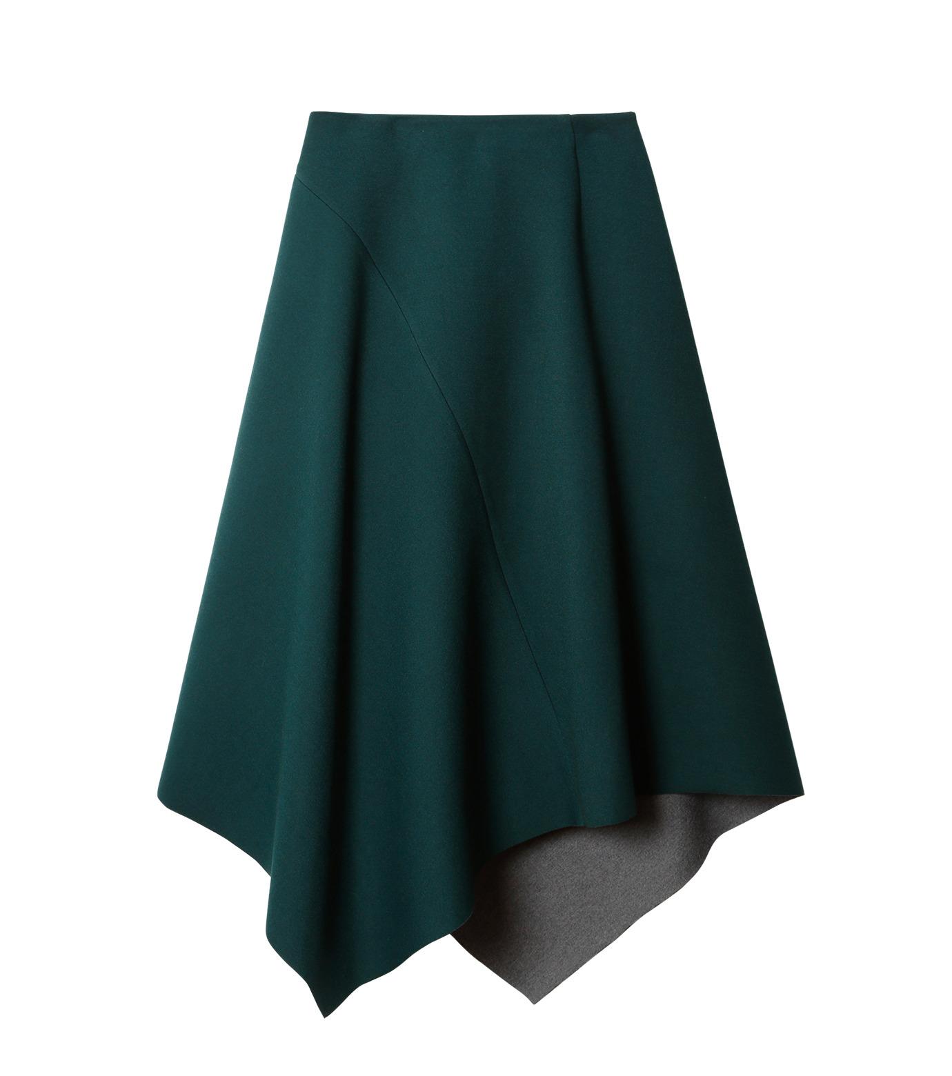 LE CIEL BLEU(ルシェルブルー)のアシンメトリーヘムスカート-GREEN(スカート/skirt)-18A67421 拡大詳細画像4