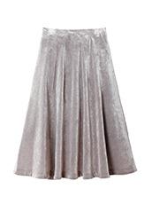 LE CIEL BLEU ベルベットフレアラインスカート