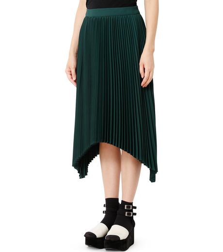 LE CIEL BLEU(ルシェルブルー)のハンカチーフヘムプリーツスカート-GREEN(スカート/skirt)-18A67423 詳細画像1