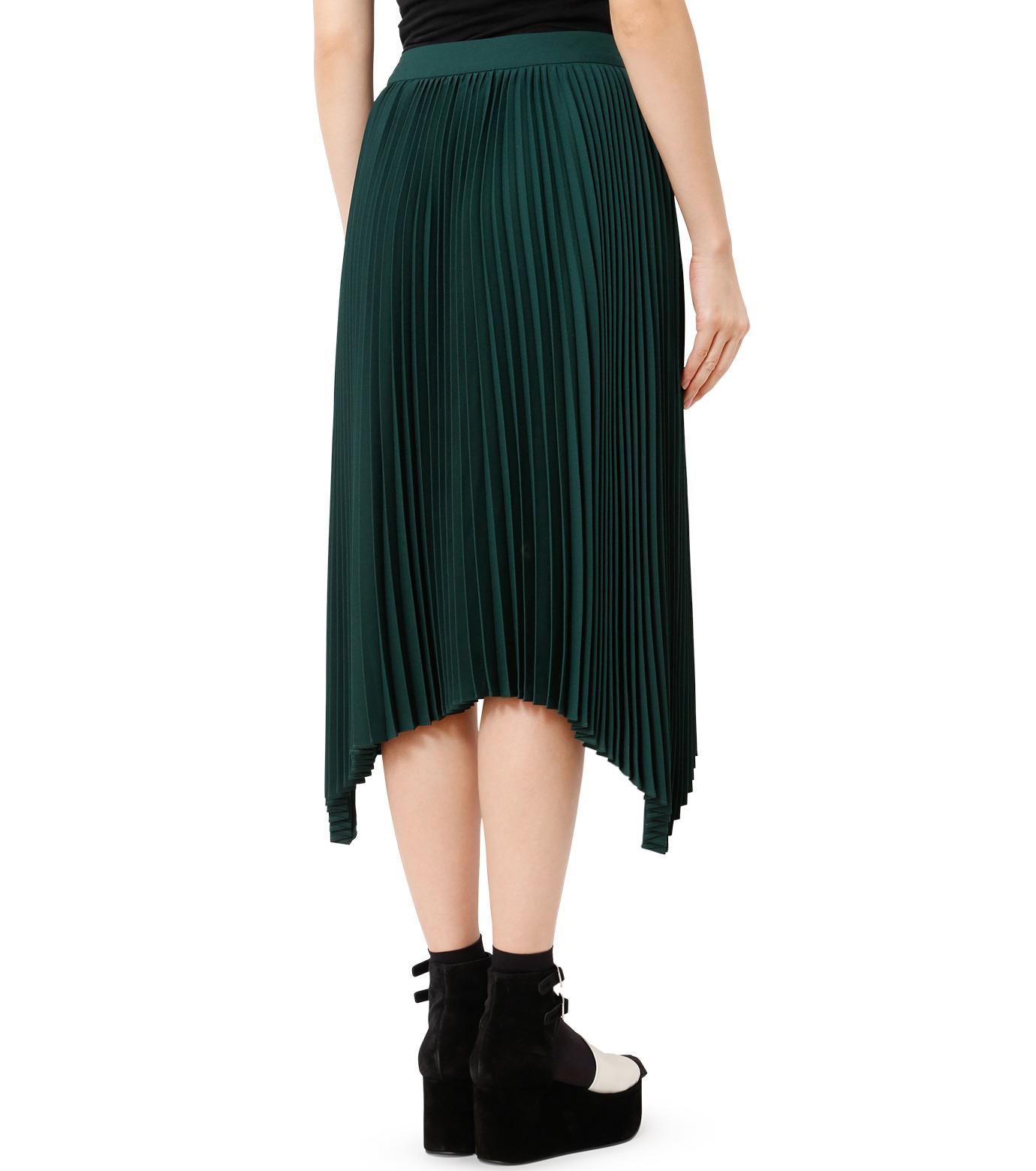 LE CIEL BLEU(ルシェルブルー)のハンカチーフヘムプリーツスカート-GREEN(スカート/skirt)-18A67423 拡大詳細画像2