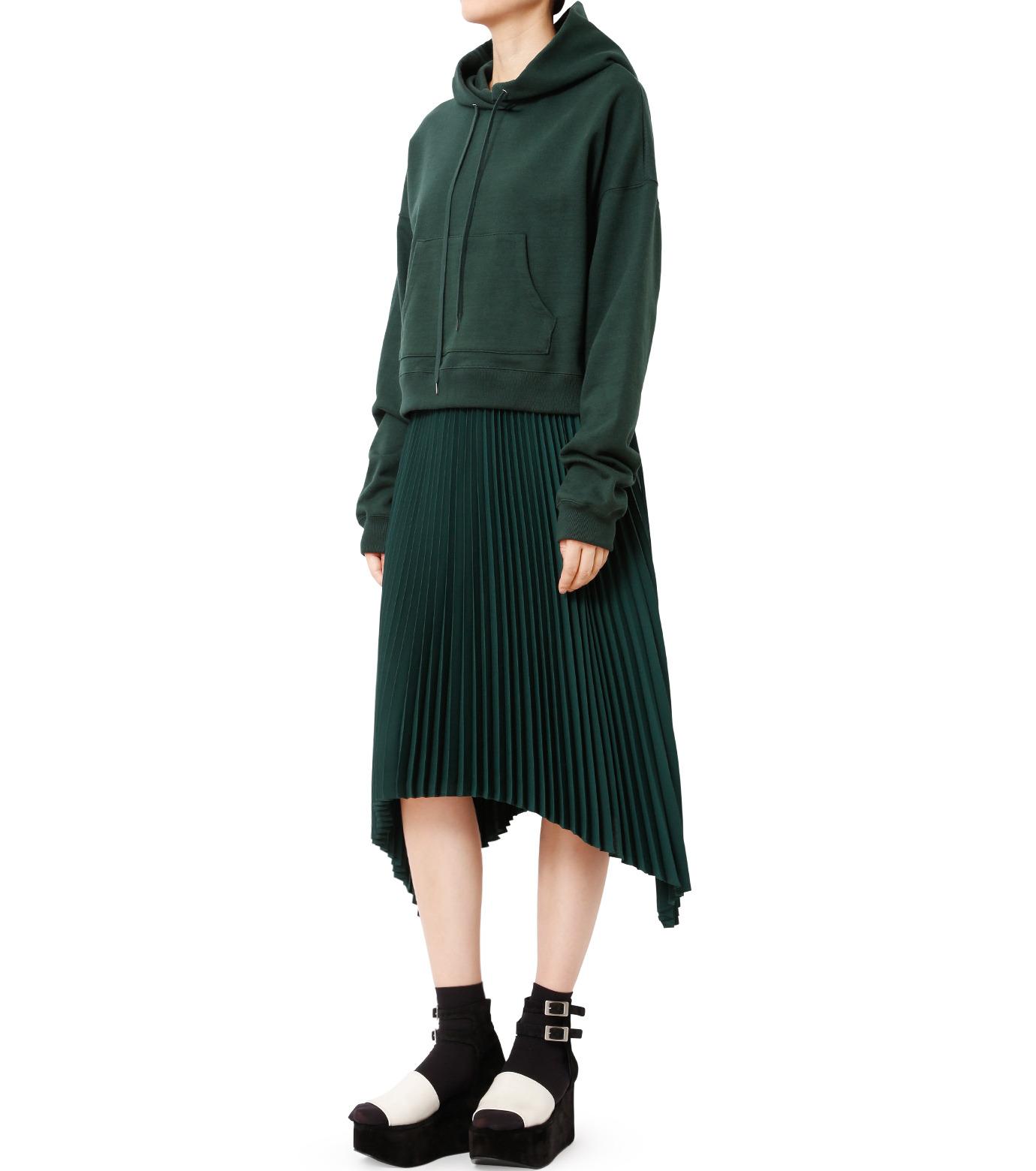 LE CIEL BLEU(ルシェルブルー)のハンカチーフヘムプリーツスカート-GREEN(スカート/skirt)-18A67423 拡大詳細画像3